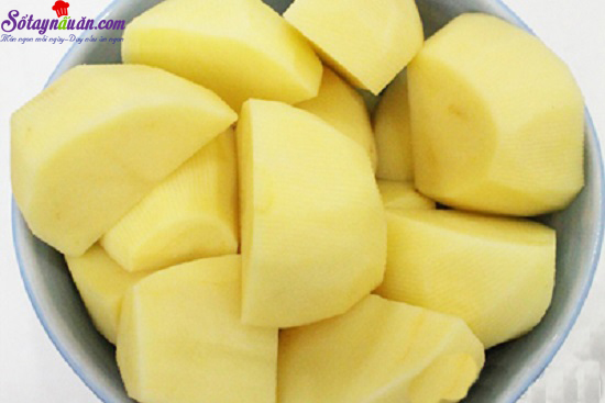 hướng dẫn làm khoai tây bọc rau củ 1