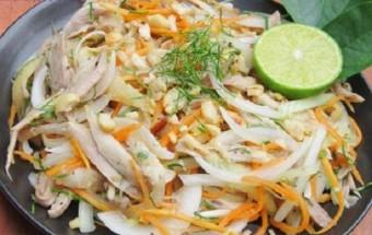 Nấu ăn món ngon mỗi ngày với Thịt gà, cách làm nộm gà hành tây 12