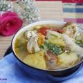 thịt lợn, cách làm món ghẹ nấu măng chua 8