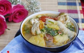 Cách nấu canh, cách làm món ghẹ nấu măng chua 8