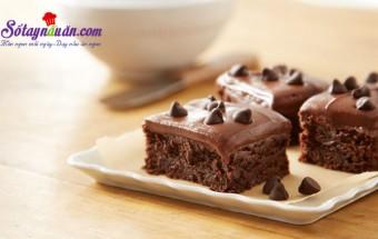 cách làm bánh, Công thức bánh brownies vị socola ngon tuyệt kết quả