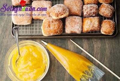 Hướng dẫn làm bánh malasada vị chanh leo thơm ngon 11