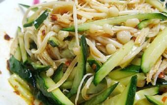 Nấu ăn món ngon mỗi ngày với Giá đỗ, Nộm dưa chuột giá đỗ 4