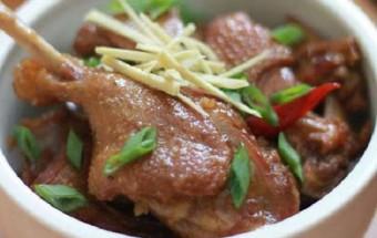cách nấu món kho, cách làm món thịt vịt kho gừng 10