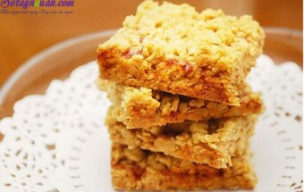 Những món ăn vặt, cách làm bánh ngũ cốc mứt dâu 8