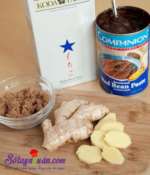 Bánh trôi nước nhân đậu đỏ giải nhiệt ngày nóng nguyên liệu
