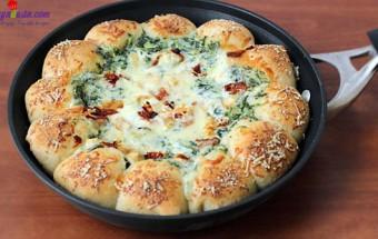 dạy nấu ăn ngon, cách làm pizza chảo nhúng 10
