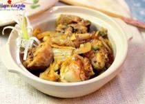 Cách làm gà nấu kim chi ngon miễn chê