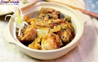 dạy nấu ăn ngon, cách làm gà nấu kim chi 5