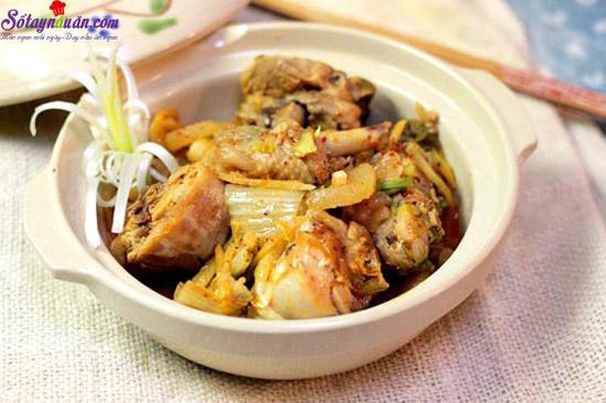 cách làm gà nấu kim chi 5