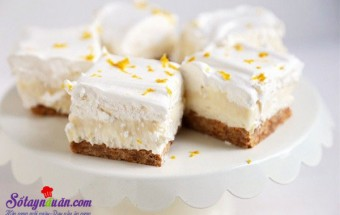 Cách làm kem, Học cách làm cheesecake chanh thơm và ngon tuyệt kết quả