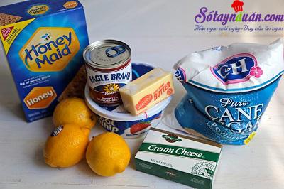 Học cách làm cheesecake chanh thơm và ngon tuyệt nguyên liệu