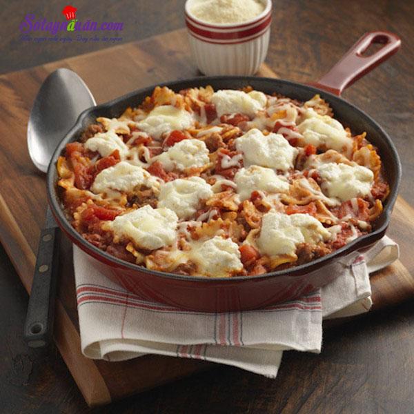 Hướng dẫn làm món lasagna mới lạ mà ngon kết quả