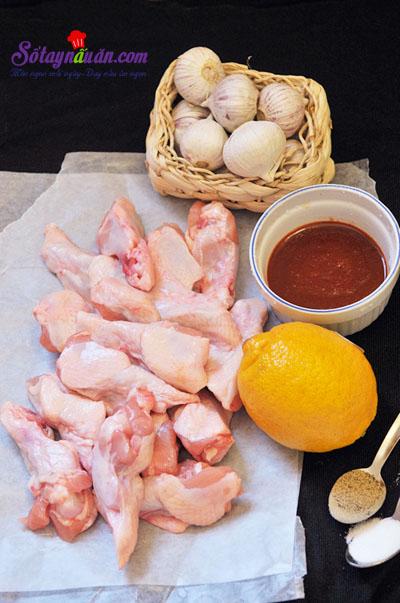 Ngất ngây gà nướng cay vị Hàn quốc siêu ngon nguyên liệu