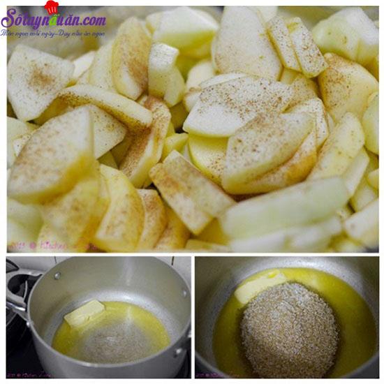 cách làm bánh táo tapioca 9