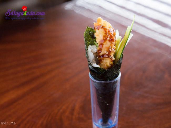 Làm sushi cuộn với nấm cực kì thơm ngon và đơn giản kết quả