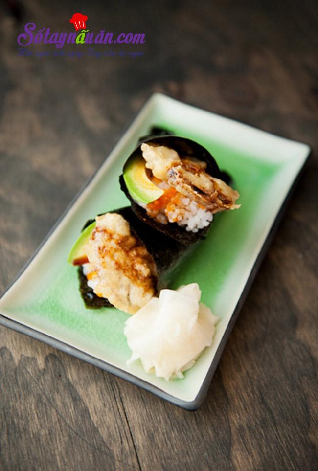 Làm sushi cuộn với nấm cực kì thơm ngon và giản đơn