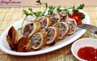 Nấu ăn món ngon mỗi ngày với Nấm hương, Cách làm mực nhồi thịt chiên 4
