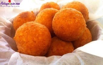 Nấu ăn món ngon mỗi ngày với Khoai tây, cách làm bánh khoai tây phô mai viên 6