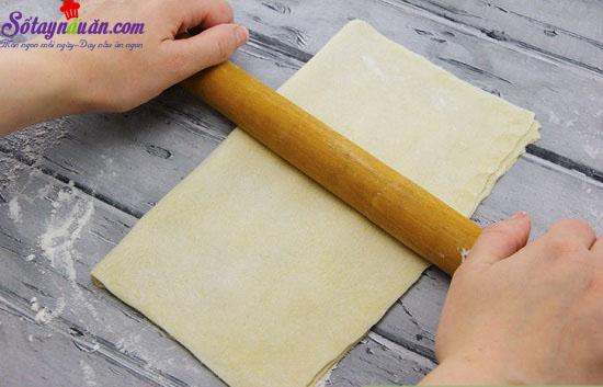 cách làm bánh nướng nhân mặn 7