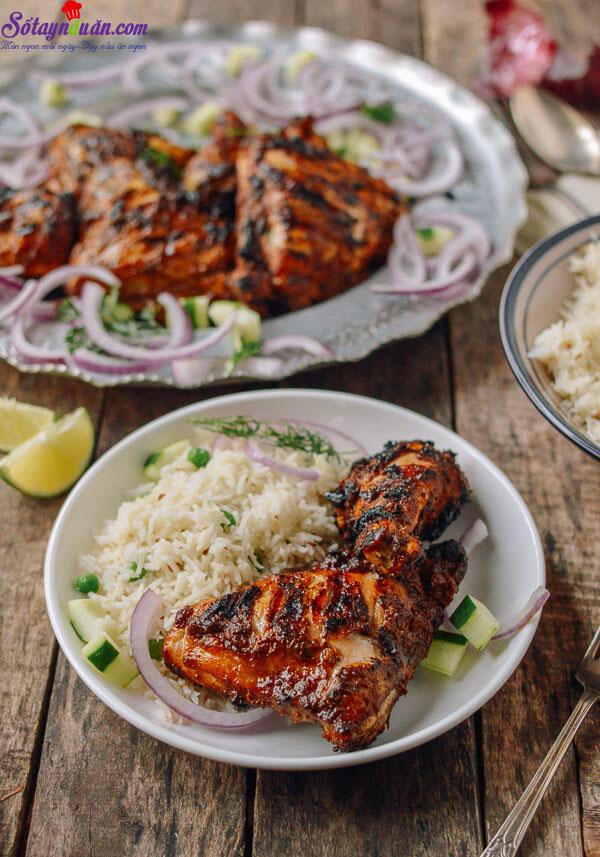cách làm gà nướng tandoori 3
