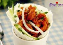 Hướng dẫn làm burrito thịt gà của Mexico ngon mê mẩn