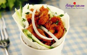 món ngon dễ làm, Hướng dẫn làm burrito thịt gà của Mexico ngon mê mẩn kết quả