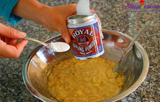 cách làm bánh chuối nướng 4