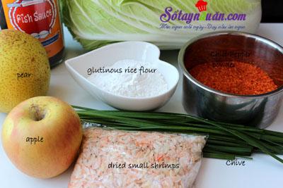 Mẹo làm kimchi không bị hăng tí nào luôn nguyên liệu