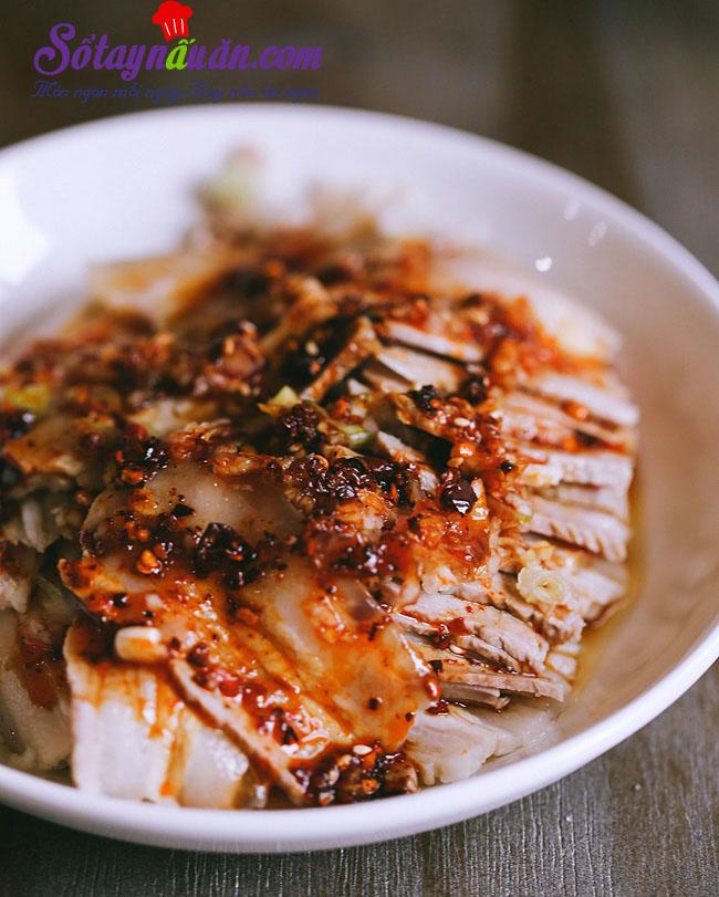 Thịt luộc kiểu mới lạ mà ngon kết quả