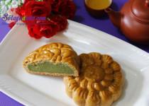 Bánh trung thu nhân trà xanh thơm ngon cho tết thiếu nhi