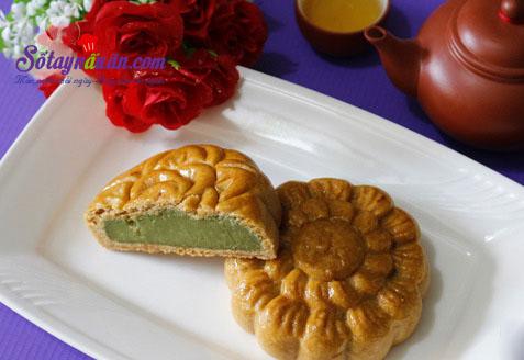 Bánh trung thu nhân trà xanh thơm ngon cho tết thiếu nhi kết quả