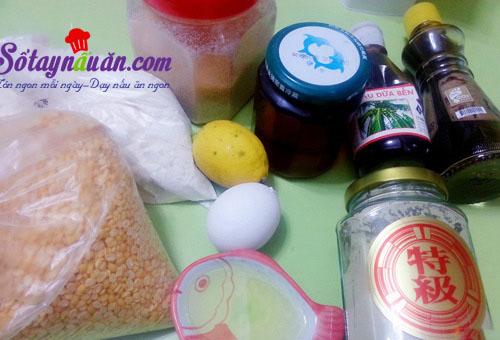 Bánh trung thu nhân trà xanh thơm ngon cho tết thiếu nhi nguyên liệu