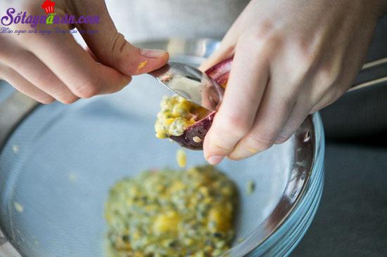 cách làm bánh mousse chanh leo 3