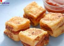 Hướng dẫn làm bánh phô mai xúc xích chiên ngon miễn chê