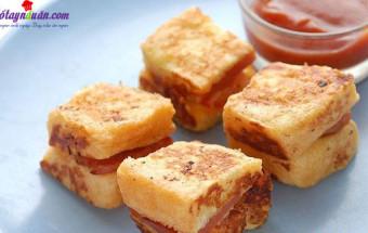 Món ăn sáng, cách làm bánh phô mai xúc xích chiên 5