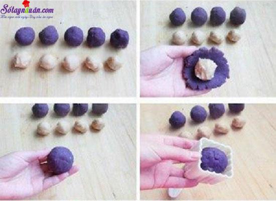 cách làm bánh trung thu khoai lang tím 12