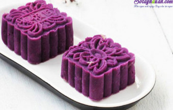 Nấu ăn món ngon mỗi ngày với Dầu ăn, cách làm bánh trung thu khoai lang tím 13