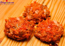 Thịt bò viên nướng sốt cà chua – món ngon dễ làm