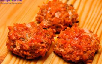 Nấu ăn món ngon mỗi ngày với Phần thịt bò viên, cách làm thịt bò viên nướng sốt cà chua 10