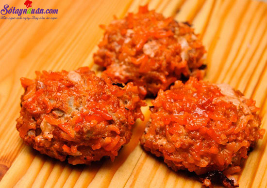 cách làm thịt bò viên nướng sốt cà chua 10