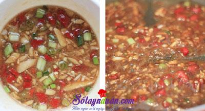 Ngất ngây với cách làm cà tím nhồi thịt sốt chua ngọt 6