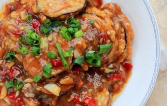 Nấu ăn, Ngất ngây với cách làm cà tím nhồi thịt sốt chua ngọt kết quả