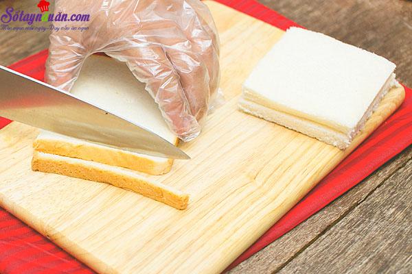 cách làm sandwich cuộn xúc xích - trà xanh sữa 1