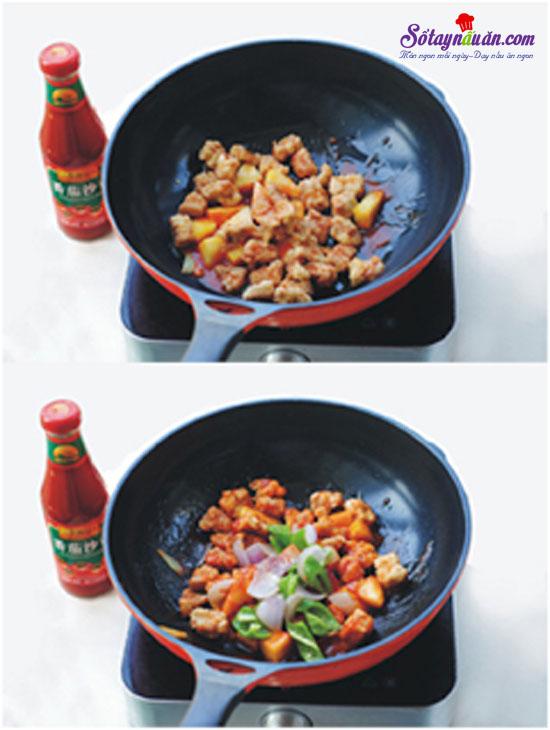 thịt thăn sốt chua ngọt 8