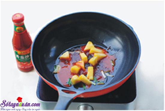 thịt thăn sốt chua ngọt 7