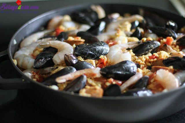 cách làm cơm hải sản thập cẩm 5