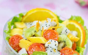 Đồ ăn vặt, cách làm salad hoa quả 8