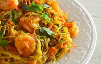 Món tây, Cách làm bún xào phiên bản Singapore lạ mà ngon kết quả
