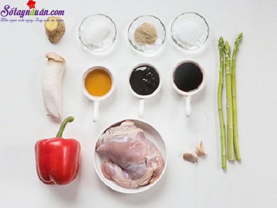 cách làm gà xào nấm 1